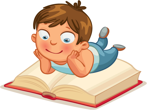 cartoon boy reading