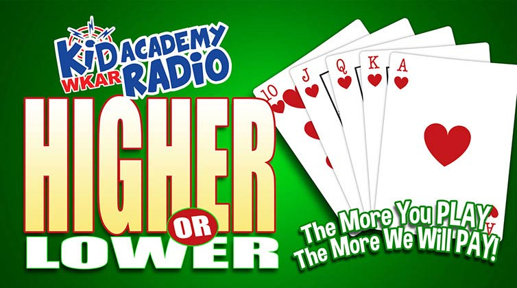 kid academy radio higher lower