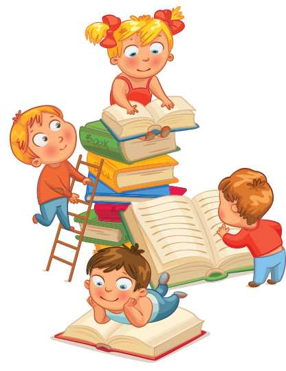 kid academy cartoon kids reading books